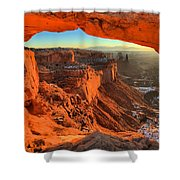 Glowing Photo Frame Shower Curtain