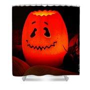 Glowing Pumpkin Shower Curtain