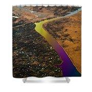 Glowing River. Rainbow Earth Shower Curtain