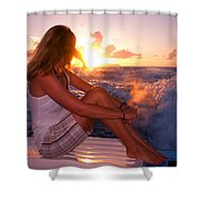 Glowing Sunrise. Greeting New Day  Shower Curtain