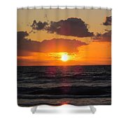 Glowing Sunrise Shower Curtain