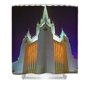 Glowing Temple Shower Curtain