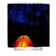 Glowing Tent Shower Curtain