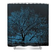 Glowing Tree Shower Curtain