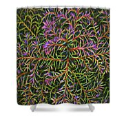 Glowing Vines Shower Curtain