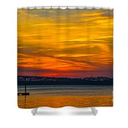 Glowing With Color Shower Curtain