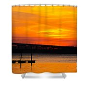 Glowing With Orange Shower Curtain