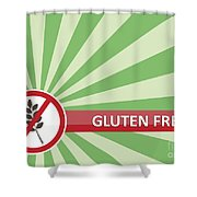 Gluten Free Banner Shower Curtain