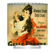 Glycerine Toothpaste 1878 Shower Curtain