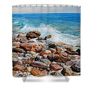 Glyfada Greece Shower Curtain