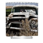 G M Old Pickup Shower Curtain