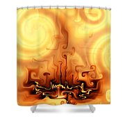 Gnarly Campfire Shower Curtain
