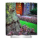 Gnarly Tree With Flowers Shower Curtain