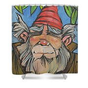 Gnome 2 Shower Curtain