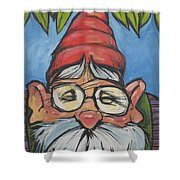 Gnome 6 Shower Curtain