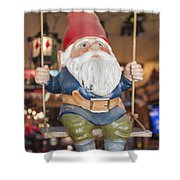 Gnome On A Swing 2 Shower Curtain