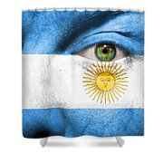 Go Argentina Shower Curtain