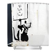Go Back To Bed Protester Shower Curtain