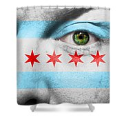 Go Chicago Shower Curtain by Semmick Photo