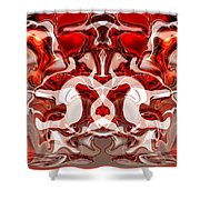 Go Cougs Shower Curtain by Omaste Witkowski