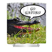 Go Gators Greeting Card Shower Curtain