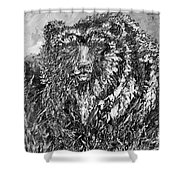 Go Griz Black And White Shower Curtain