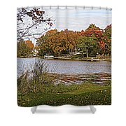 Go Live On The River Shower Curtain