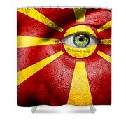 Go Macedonia Shower Curtain