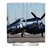 Go Navy Shower Curtain