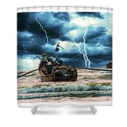 Go Though The Storm Shower Curtain