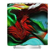 Go With The Flow Abstract Shower Curtain