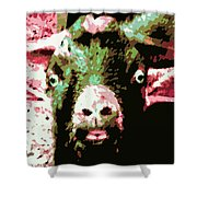 Goat Abstract Shower Curtain