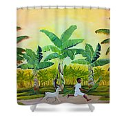 Goat Chase Shower Curtain