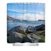 Goat Rock State Beach Near Russian River Outlet Near Jenner-ca Shower Curtain