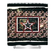 God Bless America Shower Curtain by Sherry Flaker