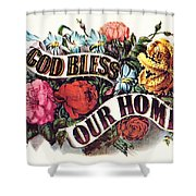 God Bless Our Home Shower Curtain