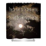 God Bless The Moon Shower Curtain