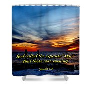 God Called It Sky Shower Curtain