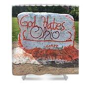 God Hates Ohio Shower Curtain