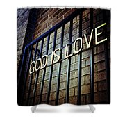 God Is Love Shower Curtain