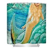 Goddess Atargatis 1000 Bc Shower Curtain