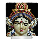 Goddess Durga Shower Curtain by Sayali Mahajan