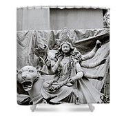 Goddess Durga Shower Curtain by Shaun Higson