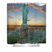Goddess Of Freedom Shower Curtain