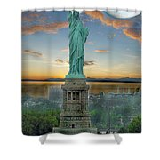 Goddess Of Freedom Shower Curtain