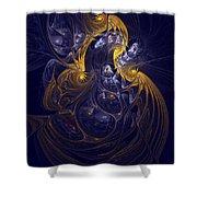 Goddess Of Healing Energy Shower Curtain