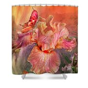 Goddess Of Spring Shower Curtain by Carol Cavalaris