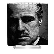 Godfather Marlon Brando Shower Curtain by Tony Rubino