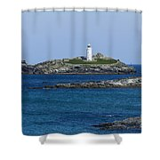 Photographs Of Cornwall Godrevy Lighthouse Shower Curtain