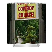 Gods Country Cowboy Church Shower Curtain